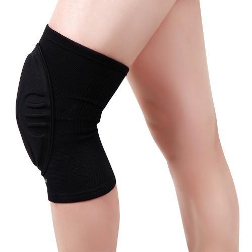 Wosawe Knee Guard manica Pad Pallacanestro protezione del rilievo elastico con buona permeabilità