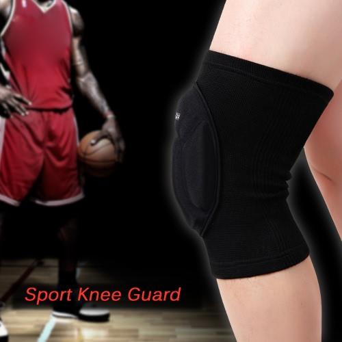 Wosawe Knieschützer Sleeve Pad Basketball-Auflage-Schutz Elastic mit guter Durchlässigkeit