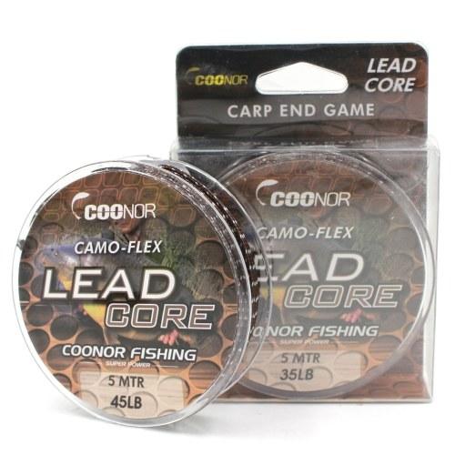 35lb / 45lb / 55lb 5m Leadcore Braided Camouflage Carp Fishing Line Hair Rigs Lead Core Fishing Tackle Image