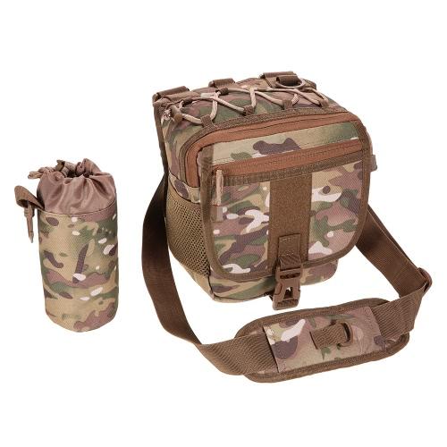 Multifuncional Lure paquete de la cintura bolsa de mensajero del paquete del bolso bolso de los trastos de pesca Pesca