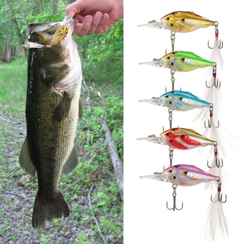 1pcs 7cm/6g Fishing Lure Artificial Bait Fly Fishing Lures Hard Feather Swimbaits thumbnail