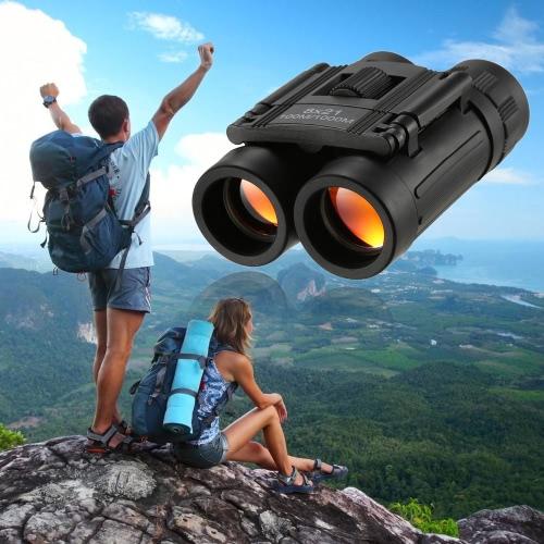 8x21 Binocular compacto de bolsillo plegable de bolsillo Mini Prism Telescopio de viaje Prismáticos binoculares para niños