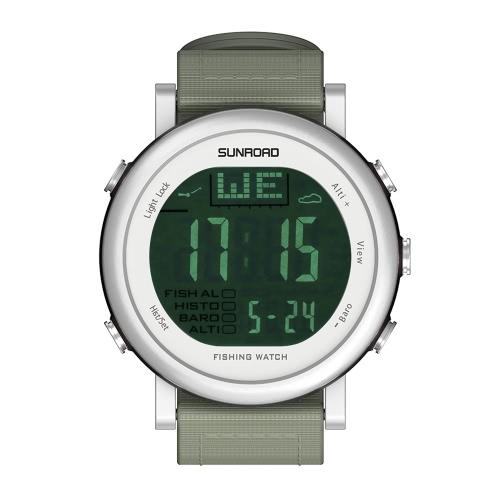 SUNROAD Barómetro Pesquero Reloj Hombre Mujer Al Aire Libre Digital Deportivo Reloj Multi-funcional De Excursión Reloj Previsión Del Tiempo Altimeter Termómetro