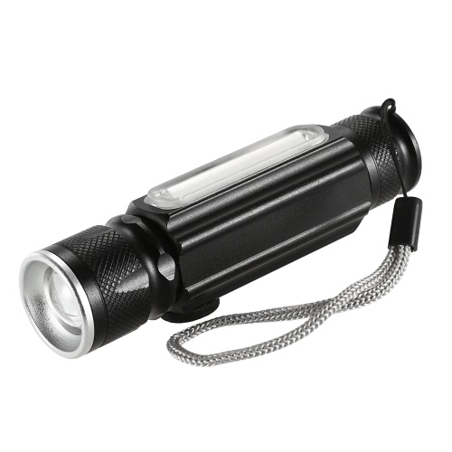USB 180LM linterna con imán Handy LED linterna recargable de la antorcha flash luz LED bolsillo lámpara de zoom