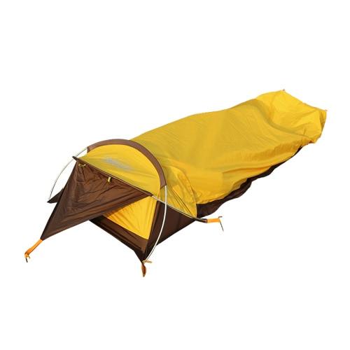 Сверхлегкий 1 человек Палатка Дождезащитный личный чехол для палатки с тентом для наружного кемпинга Пеший туризм Рюкзак