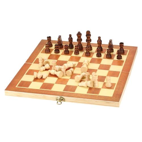 Juego de ajedrez de madera conjunto de ajedrez juego de ajedrez internacional con tabla plegable