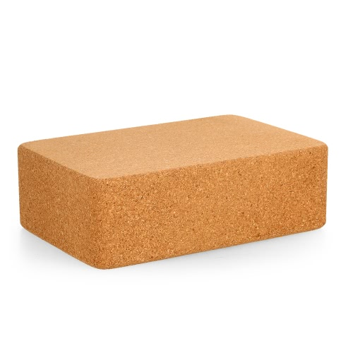 Cork Wood Yoga Block High Density Provides Stability and Balance Support Bricks for Exercise Pilates Workout Fitness