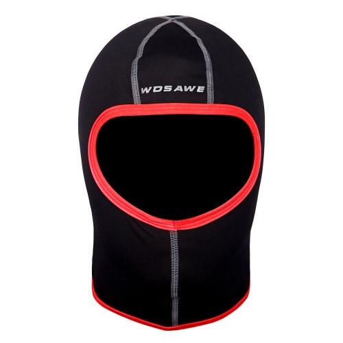 WOSAWE maschera viso calda antivento antivento Balaclava Sport invernali sci bicicletta da bicicletta cappello maschera intera