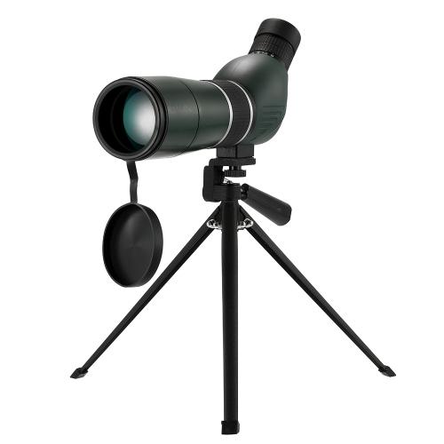 Точечные прицелы Монокулярный телескоп 15-45X60 Zoom Монокулярный 45-градусный угловой телескоп для наблюдения за птицами Целевая съемка с переносным штативом