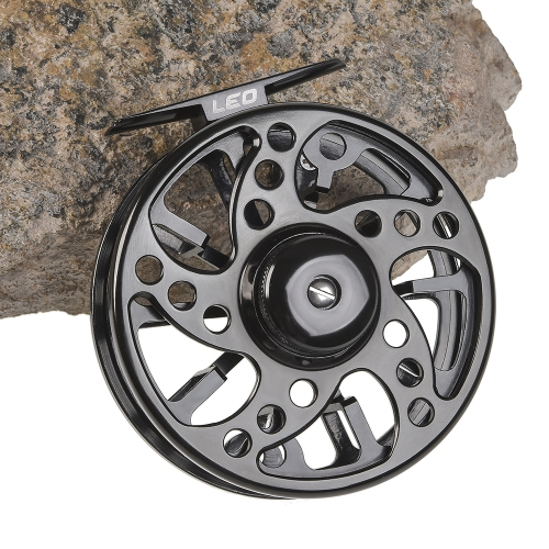 Fly Fishing Reel Aluminum Alloy Fishing Reel 3/4 / 5/6 / 7/8 Weight 2+1 Ball Bearing Left Right Interchangeable Fly Reel Y5989-75