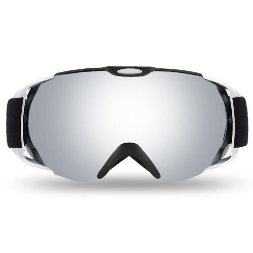 Lixada occhiali da sci per adulti invernali Snow Sports Snowboard Occhiali sportivi Anti-nebbia doppia lente sferica doppio per pattini da sci snowmobile