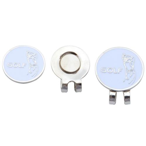 1 UNIDS Profesional Golf Cap Clip Pinzas de Sombrero Magnético Marcadores de Pelotas de Golf de Metal Golf Accesorio Deportivo