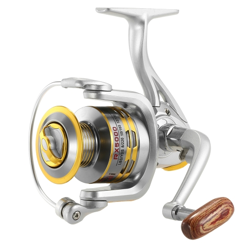 12 rolo de pesca BB Spinning 5.1: 1 Gear Ratio Fishing Reel para River Lake Sea Fishing