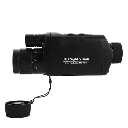 3.5-10.5x32 WIFI Цифровой монокулярный телескоп Инфракрасное устройство ночного видения Телескоп для телескопа