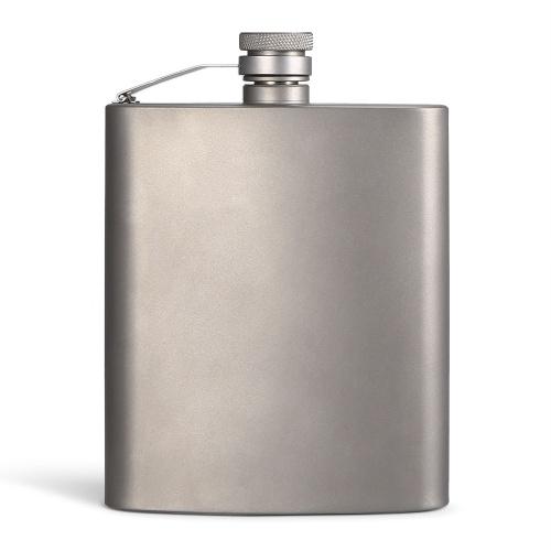 200ML Titanium Flask Liquor Ultra Light Flat Hip Flask Outdoor Camping Picnic Hiking