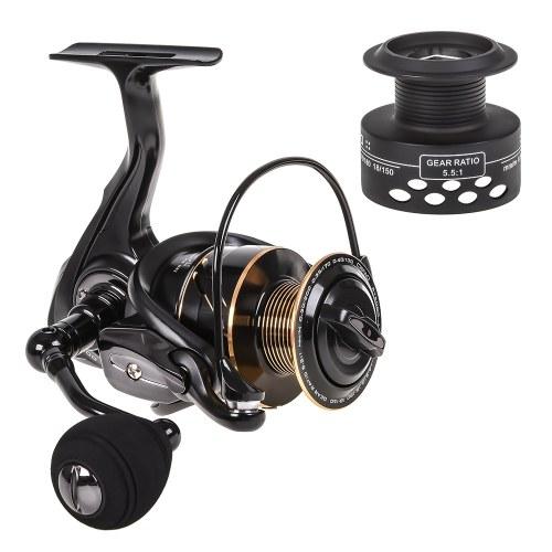 Spinning Fishing Reel 13BB + 1 Bearing Balls Metal Spinning Reel Boat Rock Fishing Wheel with with Extra Spool