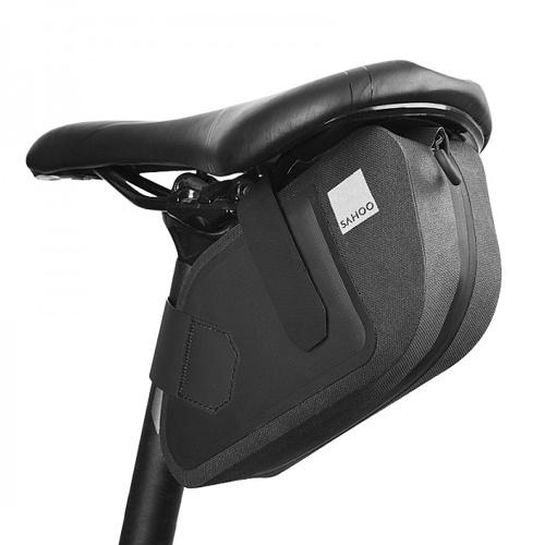 Bicycle Saddle Bag Bike Seat Bag Reflective Cycling Rear Seat Post Bag Large Capacity Tail Rear Bag MTB Road Bike Bag Bicycle Storage Bag Bike Accessories Image