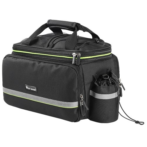 WEST BIKING Bike Trunk Bag MTB Road Bicycle Bag Travel Luggage Carrier Saddle Seat Panniers Bag Cycling Rear Rack Bag