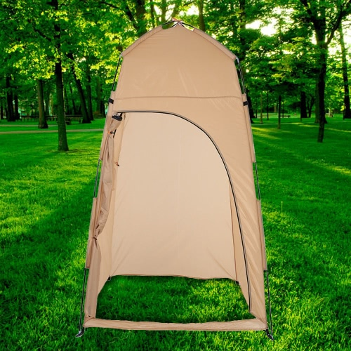 Tomshoo portable outdoor shower bath changing fitting room for Portable garden room