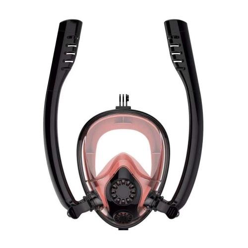2019新デザインダブルスノーケルアドバンスト呼吸システムダイビングマスク