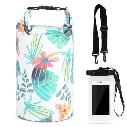 10L Водонепроницаемый сухой мешок с чехлом для телефона Сумка Roll Top Сухой мешок для каякинга Рыбалка Серфинг Плавание Рафтинг