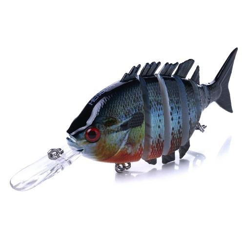10 cm / 12g Lifelike 6 articulado seções Swimbait isca de pesca