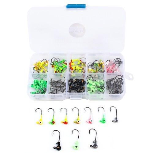 100pcs/box Multicolor Jig Head Hooks with Single Hook