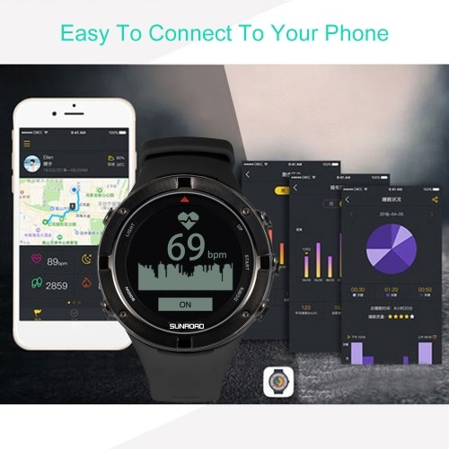 Outdoor Watch with GPS Heart Rate Triathlon Sports Watch Altimeter Barometer Watch, TOMTOP  - buy with discount