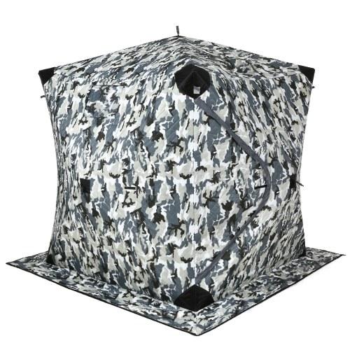 Tragbares Pop-Up Eisfischen Shelter Zelt Outdoor Dressing Duschen WC Zelt