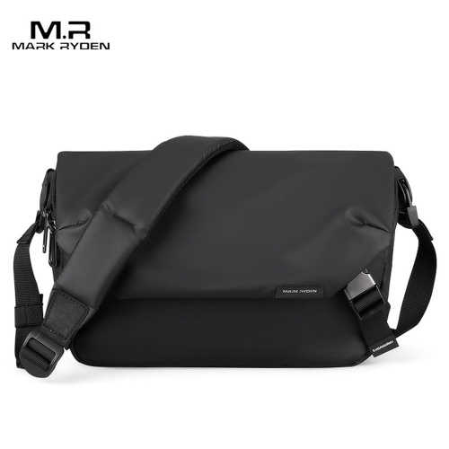 MARK RYDEN New Style Fashion Man Single Shoulder Pack Leisure Student Tooling Package Black Zipper Single Shoulder Pack