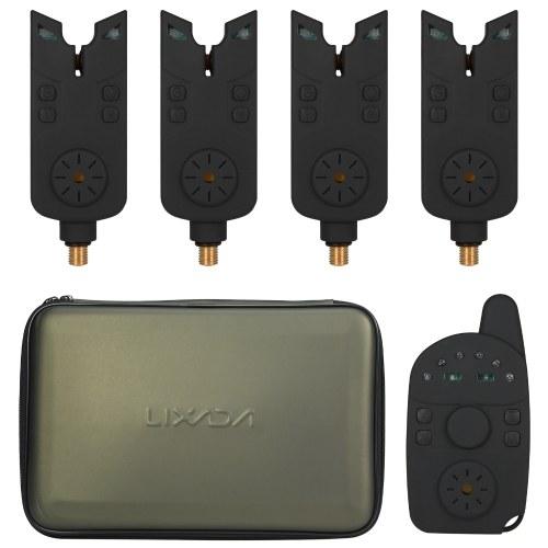 Electronic Fishing Alerts Bite Alarm LED Wireless Fishing Alarm Digital Fishing   Receiver Sound Alert Kit with Case
