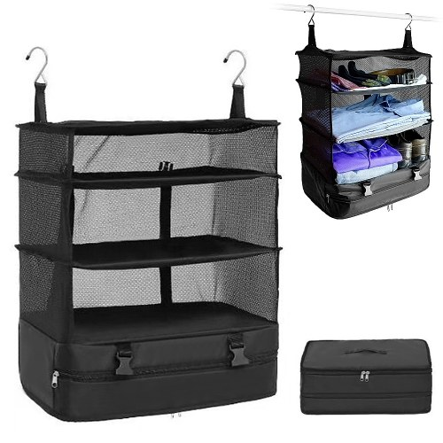 Outdoor Camping Portable Foldable Storage Hanging Bag Camping Mesh Storage Package Mesh Bag