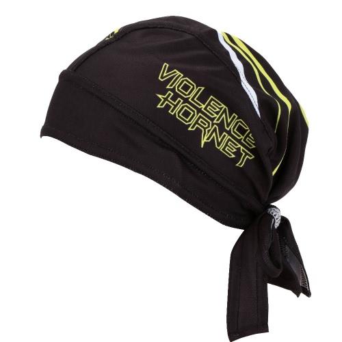 男性黒アウトドア スポーツ自転車通気性帽子速乾自転車サイクリング スカーフ海賊スカーフ鉢巻き