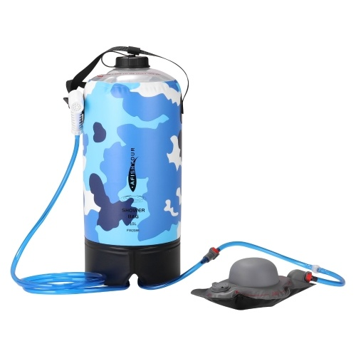 PVC Outdoor Bath Bag 10L Bath Bag Shower Bag Shower Products Portable Camping Mountaineering Equipment With Upgrade Air Pump