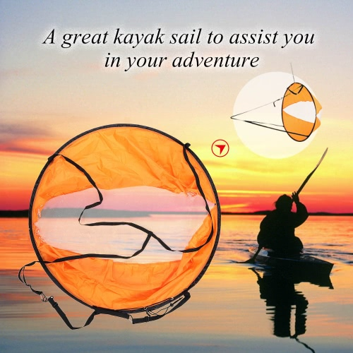 108cm diametro sottovento Popup Kayak vela primavera telaio Kayak vento vela Kayak accessori per avventura