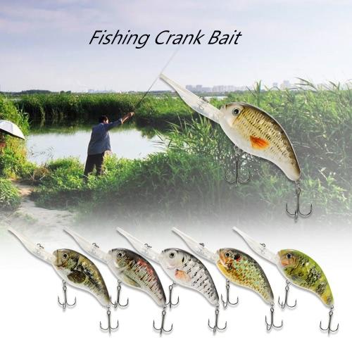13см / 32г Crank Bait рыболовную приманку Жесткий Bait с тройниками рыбалки приманку с металлическими шариками Снасть