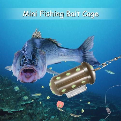 Mini cebo de pesca compartimiento del cargador Fin de bloque señuelo de la pesca de peces en jaulas de cebo Holder señuelo trastos de pesca Accesorios de pesca