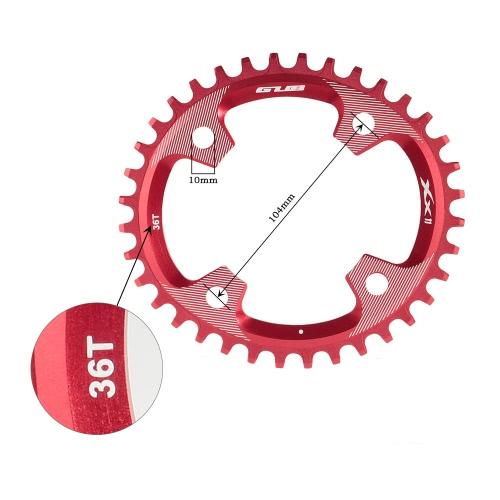 GUB 34T / 36T AL7075 aleación de aluminio de 104 mm BCD Chainring Chainwheel Cadena Camino engranaje de la bicicleta MTB del anillo del piñón