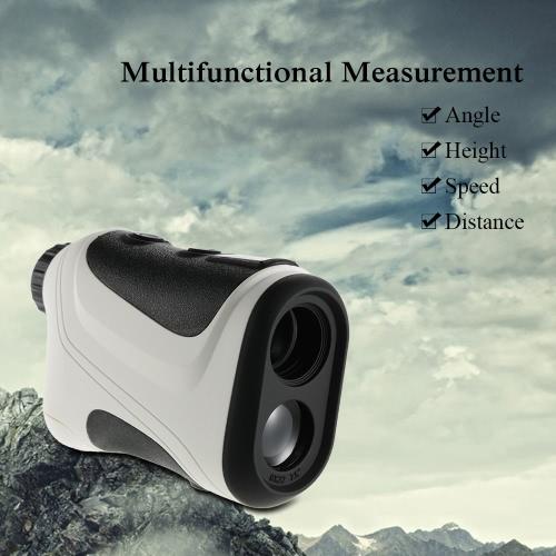Lixada 6X Multifunktionshand Range Finder 1000M Entfernung Geschwindigkeit Winkel Höhenmessung im Freien Jagd Golf Entfernungsmesser Teleskop