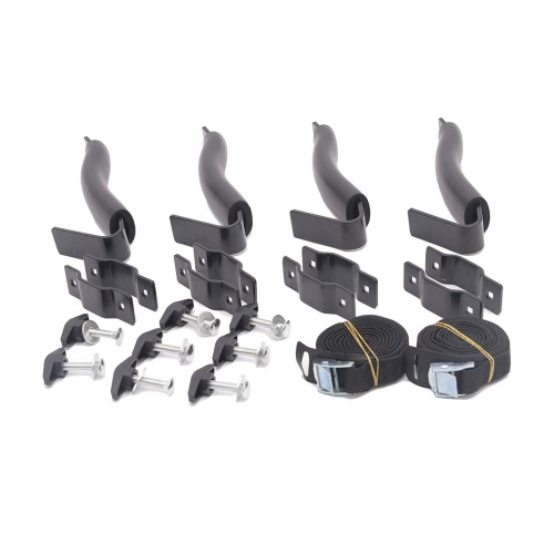 Kayak Tetto Rack Set V-rack Holder 4 Top portante per canoa o kayak Misure su veicoli Truck Croce Bar