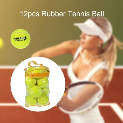 12PCS Tennis Formazione pratica Palla alta resilienza Tennis Training resistenti palline Palle da allenamento per principianti Concorso