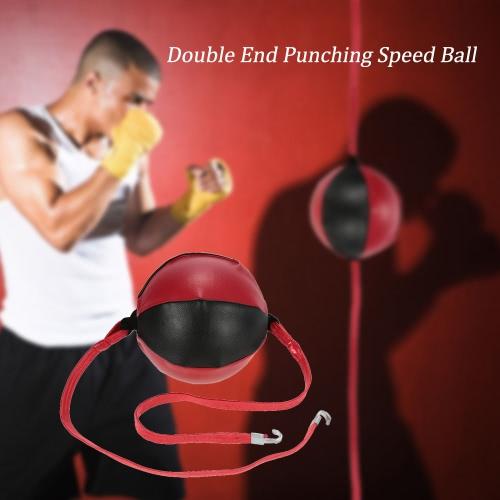 Doppio Fine punzonatura velocità palla colpisce Punching Ball Solid pelle Sporting MMA Boxing Training Gear