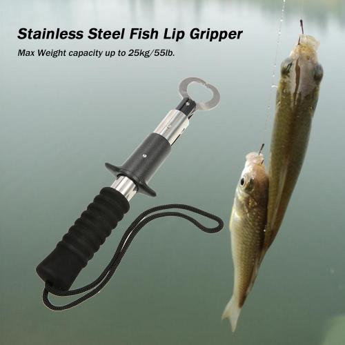 Портативный нержавеющей стали рыбы губ Gripper Grabber Рыба ручка Grab рыбы Рыбалка держатель инструмента рыболовные снасти 25kg Емкость