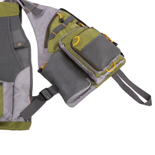 Docooler Adjustable Fly Fishing Vest Mesh for Men and Women Premium Gear Packs and Vests for Fly Fishing