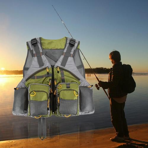 Регулируемая ужение нахлыстом жилет сетка для мужчин и женщин премиум-пакеты шестеренки и жилеты для Fly Fishing
