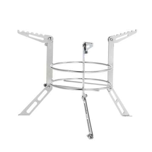 Portable Edelstahl Campingkocher Außenständer Spiritus-Ofen Rack-Legs-Support Kochgeräte Zubehör