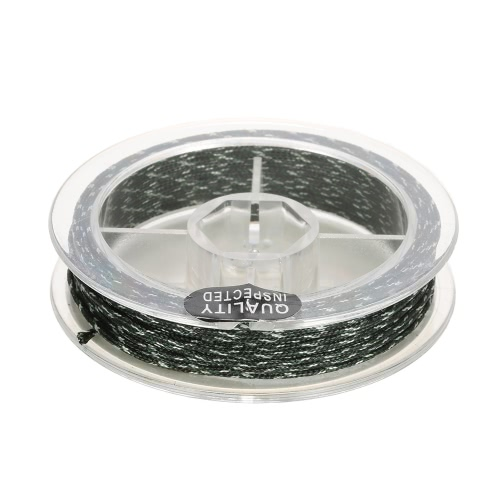 45lb 5m Leadcore Braided Camouflage Carp Fishing Line Hair Rigs Lead Core Fishing Tackle Image