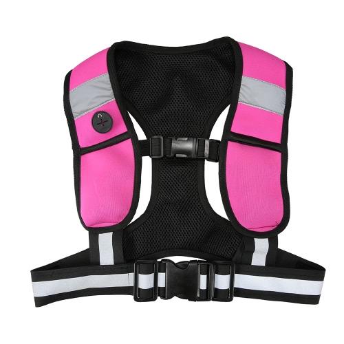 Модные Светоотражающий Запуск жилет Спортивного жилет безопасности спортивного снаряжения с светодиодными фонарями для женщин девочек