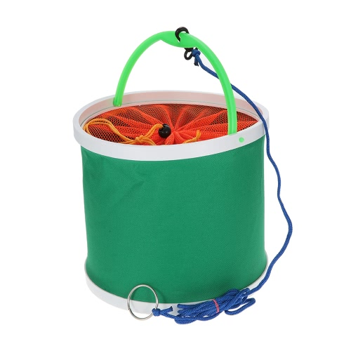 Outdoor Oxford pano Bucket dobrável Bucket Camping Camping Caminhando Fishing Bucket Pesca Tackle Tools