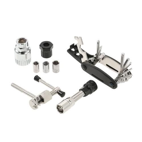 Lixada Многофункциональный набор инструментов для ремонта велосипеда Инструмент для снятия велосипеда с нижним кронштейном Инструмент для удаления велосипеда